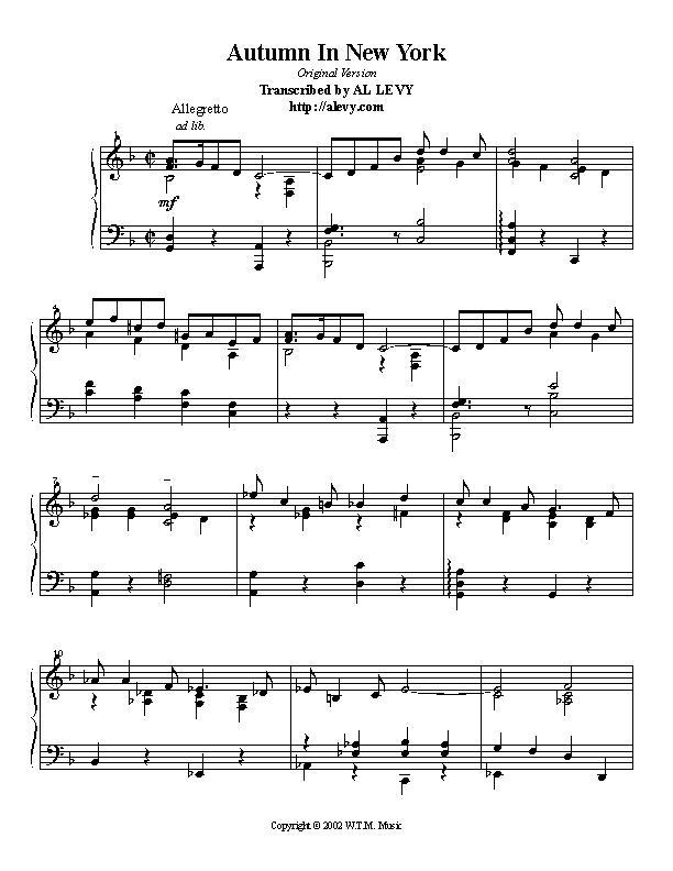 new york new york piano solo pdf